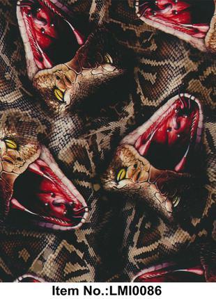 Liquid Image Пленка Цветные змеи LMI0086 (ширина 100см)