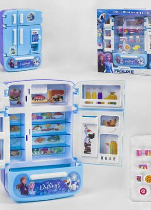 """Холодильник с продуктами, набор  """"Кухня с холодильником"""", плита"""
