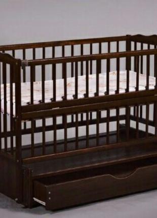 Кровать кроватка детская Венге маятник с ящиком откидной бок Новы