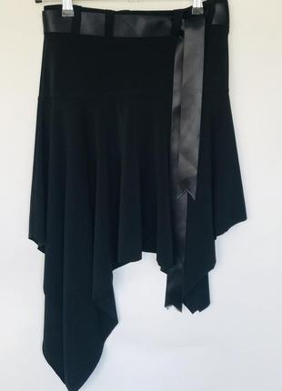 Юбка черная новая женская, оригинального покроя