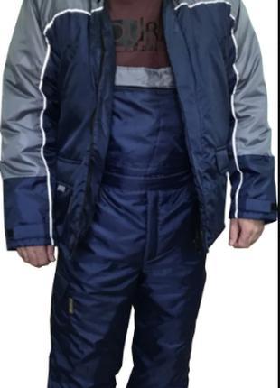 Зимний рабочий костюм с полукомбинезоном КАТ33/ТПУ3