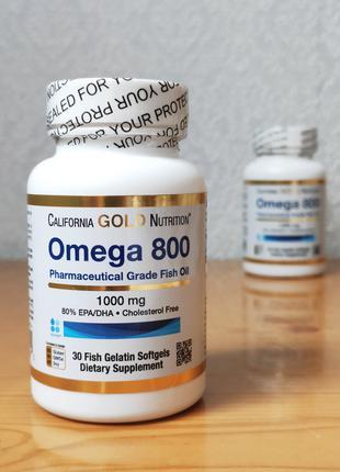 Омега 800, Триглицеридная форма, 1000 мг, 30 капсул