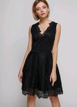 Вечернее кружевное платье h&m