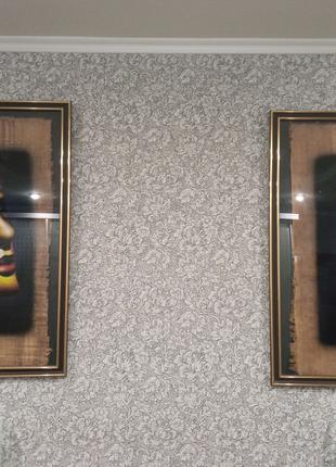 Египет картины парные Эхнатон и Нефертити