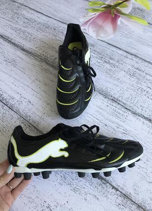 Крутые кроссовки для футбола кеды бутсы копы puma 43(27см)