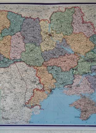 Мапа Карта України 152*108 см.