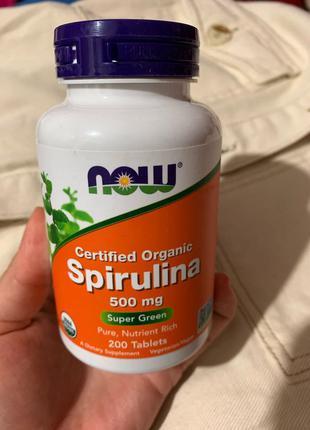 Спирулина органическая 500 мг, 200 таблеток