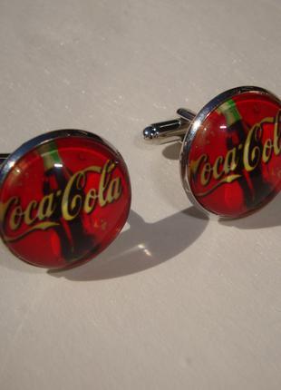 Запонки Coca-Cola Кока-Кола