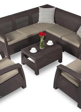 Комплект садовой мебели Curver Corfu Relax Set Duo 7