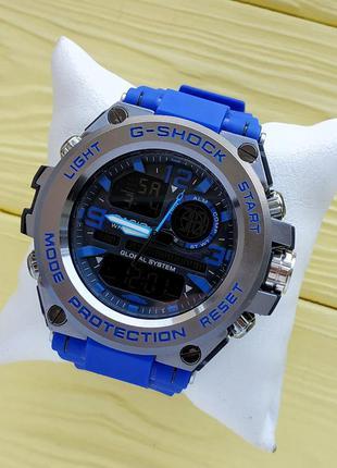 Спортивные наручные часы синего цвета