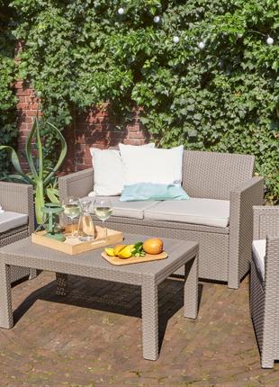 Комплект садовой мебели Allibert Merano Lounge Set