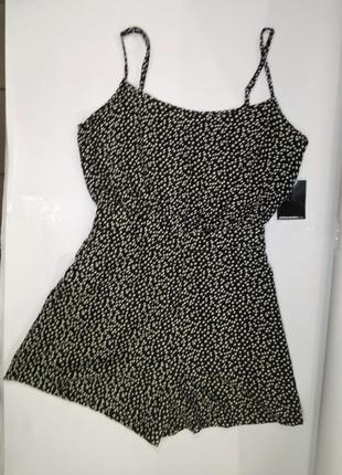 Комбинезон юбка-шорты размер s красивый в горошек