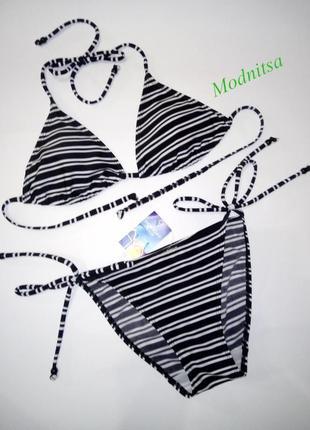 Пляжным купальник бикини в полосочку f&f uk 10
