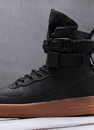 Nike Air Force af 1 (серый) (черные)