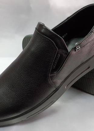 Осенние комфортные кожаные туфли на танкетке bertoni 40-45р.