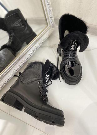 Кожаные ботинки натуральная кожа