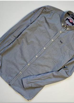 Мужская рубашка superdry серого цвета