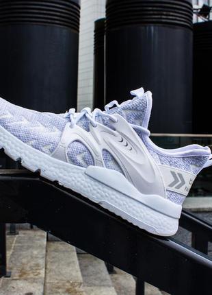 Мужские кроссовки серые лёгкие в стиле adidas nike puma