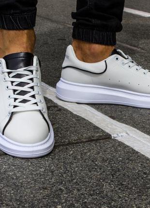 Мужские кеды белые кроссовки в стиле alexander mcqueen