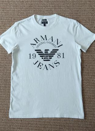 Armani jeans футболка slim fit оригинал (l)
