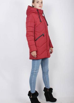 Стеганная женская удлиненная демисезонная куртка осень весна в...