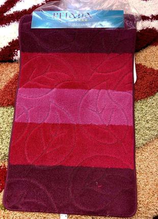 Комплект ковров для ванной и туалета, коврики для ванной комнаты