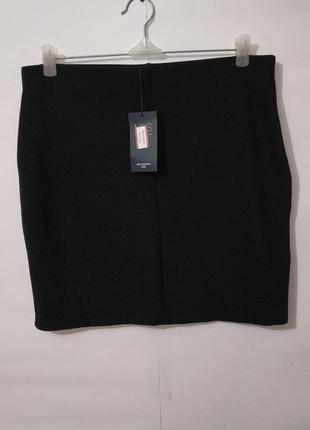 Новая черная мини юбка по фигуре marks&spencer uk 14/42/l