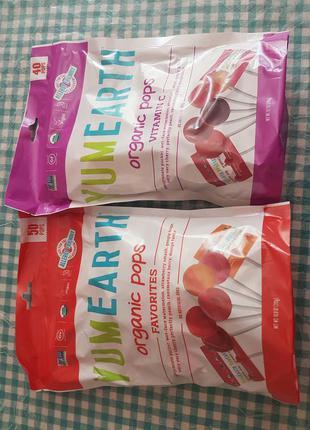 YumEarth, органические леденцы, витамин С 50 леденцов