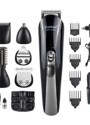 Машинка для стрижки и подравнивания бороды kemei km-600 11в1