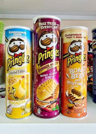 Картофельные чипсы Pringle's в ассортименте