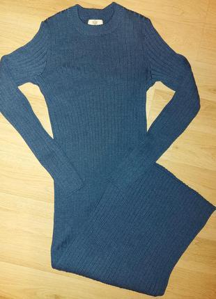 Платье в  рубчик в пол  осень  j.d.wool