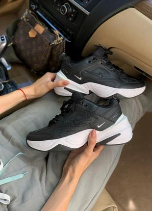 Nike m2k techno black white кроссовки женские / мужские