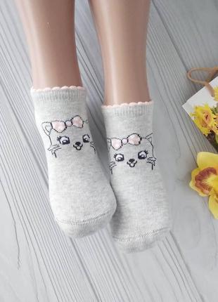 Серые короткие носки для девочек 👧 турция 👍