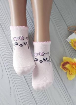 Короткие носки с кошечками на девочек 👧 турция 👍