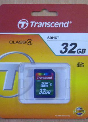 Карта памяти SDHC Transcend 32 GB 4 class