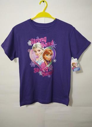 Новая фиолетовая футболка на девочку с принто disney 10-12 лет