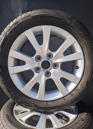 Диски R16 с резиной Dunlop sport bluresponse 205/55
