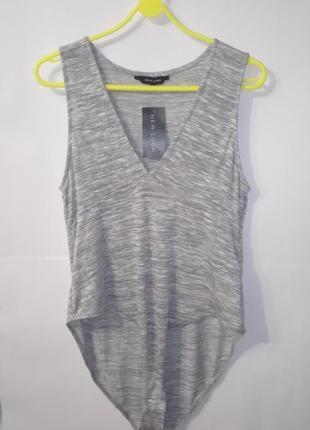 Боди комбидрес серый новый большой размер new look uk 18/46/.xxl