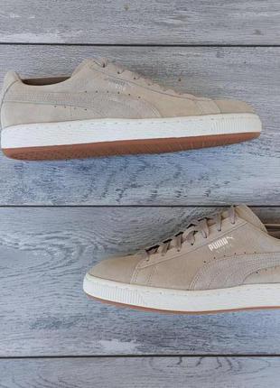 Puma suede мужские кроссовки оригинал бежевые замша
