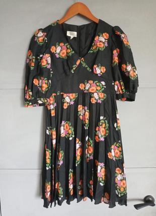Трендовое платье . платье плиссе . плиссе . с принтом . актуал...