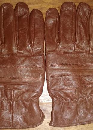 Мужские, кожаные перчатки