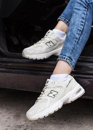 Кроссовки женские new balance 530 beige