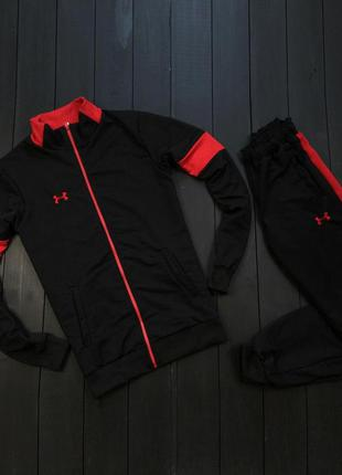 Спортивный костюм under armour black red