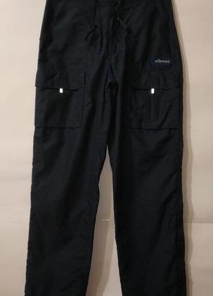 Винтажные синие спортивные штаны плащевка ellesse uk 8/36/xs