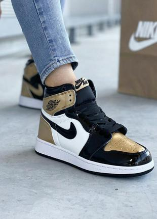 Кроссовки nike air jordan retro gold кросівки