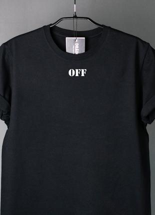 """Купить мужские и женские черные футболки """"Off"""" Базовые футболки"""