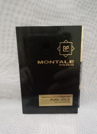 Montale pure gold парфюмированная вода vial 2мл пробник