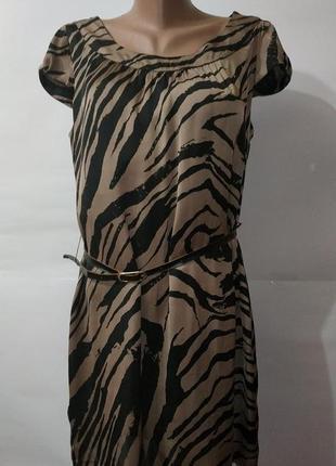 Шелковое платье футляр на подкладке h&m uk 14/42/l