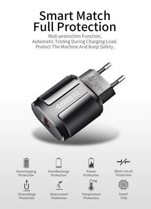 Быстрое зарядное сетевое устройство QC 3,0