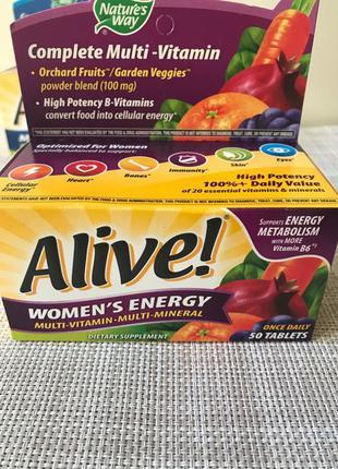 Alive , Витамины для женщин , Комплекс мультивитаминов и мультими